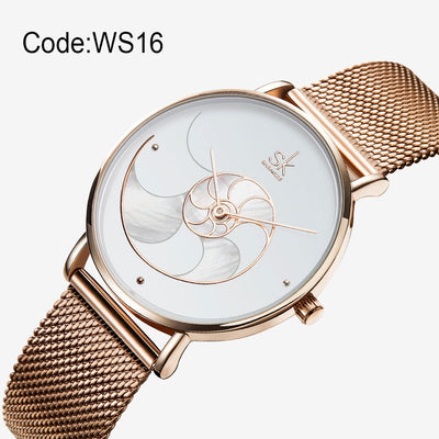 Shengke Women Fashion Quartz  High Quality Casual Waterproof Wristwatch
