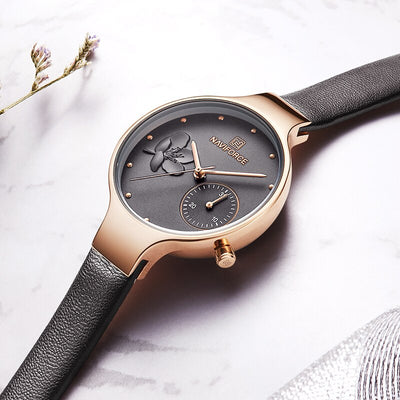 NAVIFORCE Women Watch New Fashion Casual Ladies Quartz Watches Sports Waterproof Female Clock