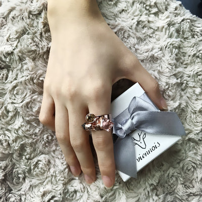 Rose Gold Color Tassel Adjustable Rings for Women
