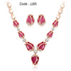 Rose Gold Color Tulip Flower Necklace Earrings Set