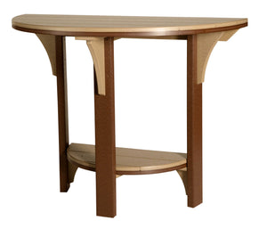 Half Round Counter Height Table