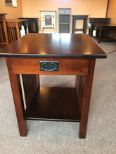 Coffee table with single drawer
