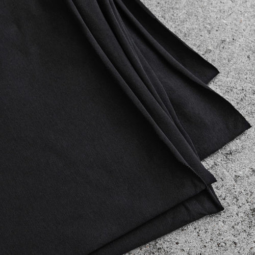 REMNANT 0.80 metre Black Organic Single Stretch Jersey