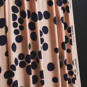 Mind The MAKER - About a Dot Rose ECOVERO™ Viscose Twill Fabric