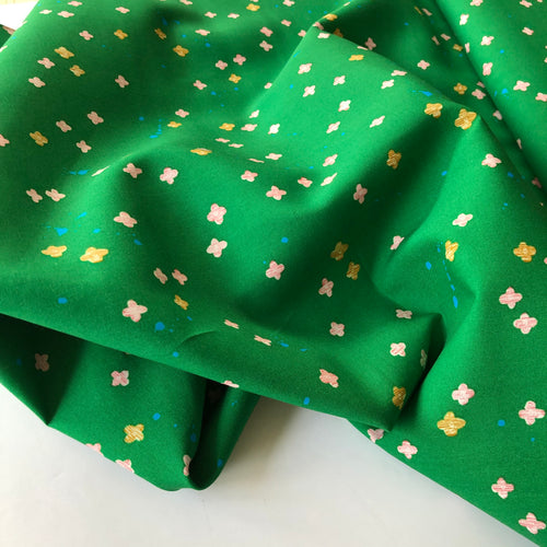 Cotton and Steel - Once Upon a Time Bouquet Burst Green Rayon