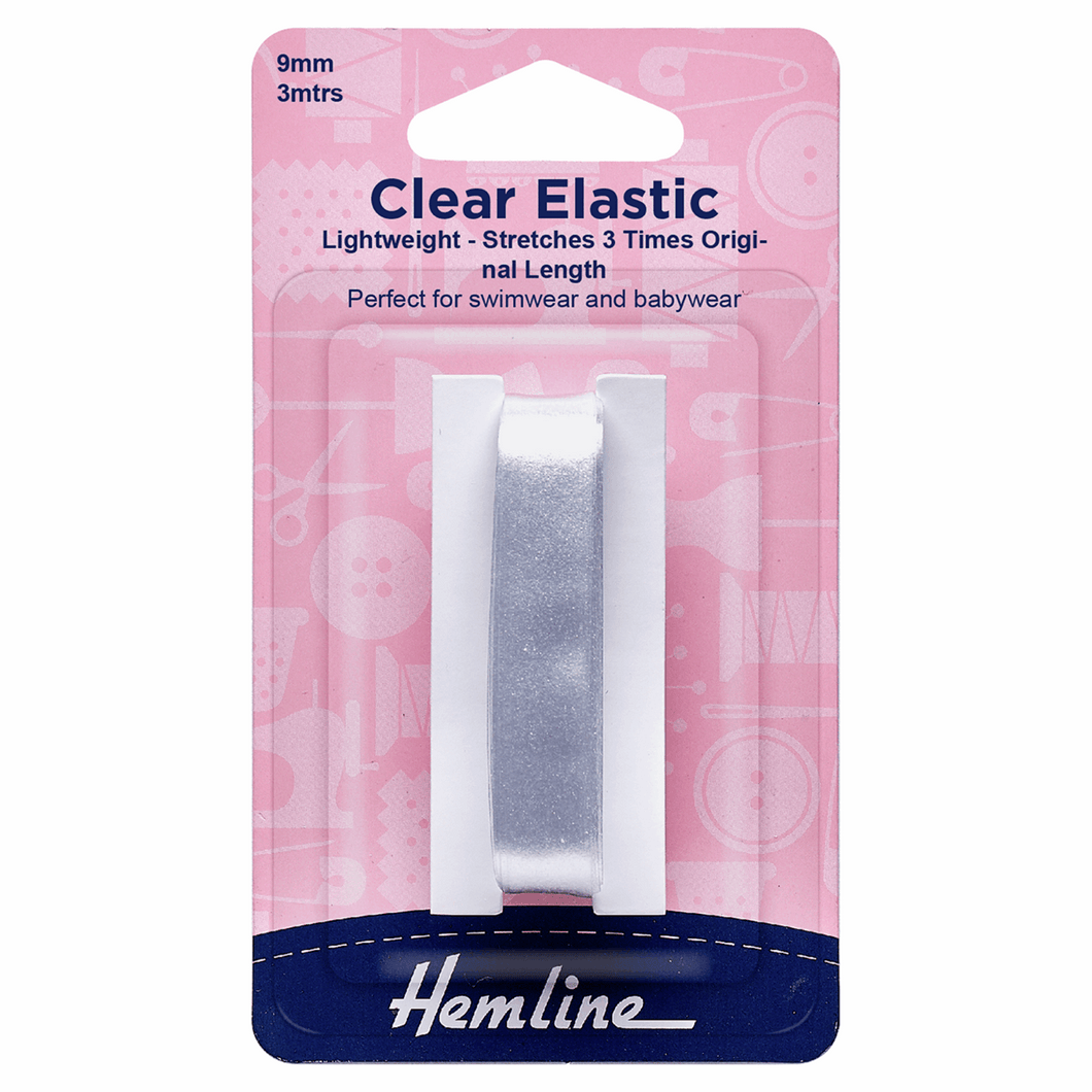 Swimwear Elastic: 3m x 9mm: Clear