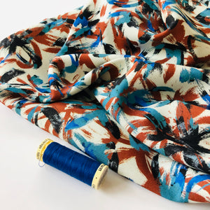 Danish Design - Brushstrokes Rayon Dress Fabric