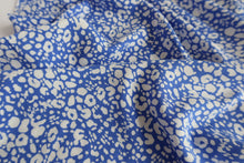 Animal Print Blue Viscose Fabric