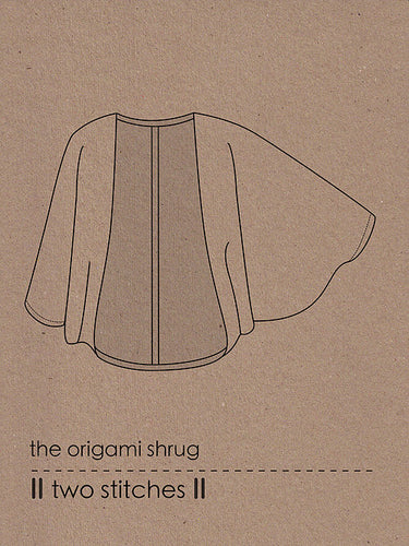 Two Stitches - Origami Shrug Sewing Pattern