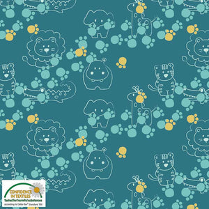 Danish Design - Animal Paws Cotton Jersey Fabric