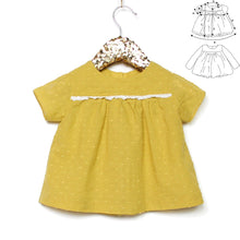 Ikatee - OSLO  Blouse -Dress Ages  6-24 Months 3-4 Years  Paper Sewing Pattern