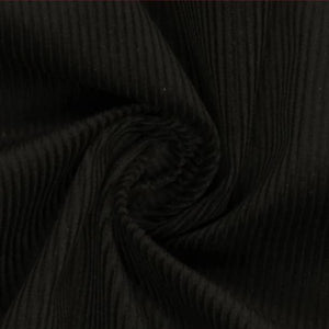Black Cotton Chunky Genoa Cord