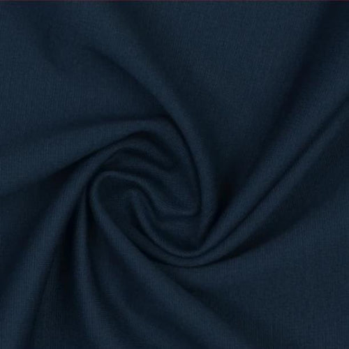 Oxford Blue Viscose Ponte Roma Double Knit Fabric