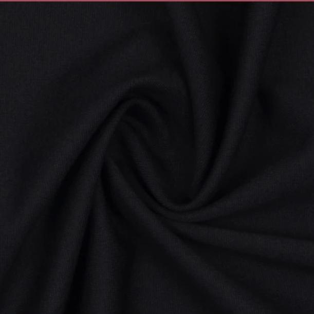 REMNANT 0.88 meter Navy Viscose Ponte Roma Double Knit Fabric