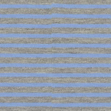 Grey with Blue Small Stripe Cotton Jersey