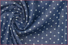 Polka Dot Cotton Denim Fabric