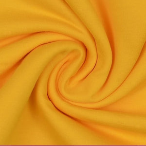 Essential Yellow Plain Cotton Spandex Jersey Fabric