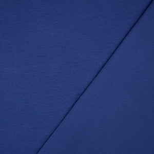Essential Chic Navy Blue Plain Cotton Jersey Fabric