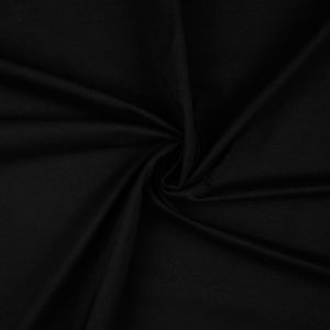 Essential Chic Black Plain Cotton Jersey Fabric