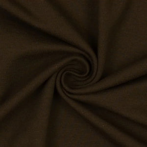 REMNANT 0.45 meter Essential Dark Chocolate Plain Cotton Spandex Jersey Fabric