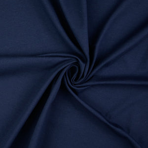 Essential Chic Navy Plain Cotton Jersey Fabric