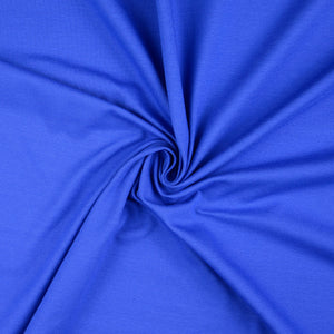 Essential Chic Royal Blue Plain Cotton Jersey Fabric
