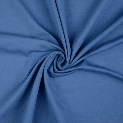 Essential Chic Blue Plain Cotton Jersey Fabric