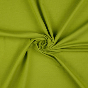 REMNANT 0.39 meter Essential Chic Meadow Grass Green Cotton Jersey Fabric