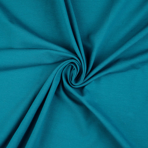 Essential Chic Teal Cotton Jersey Fabric