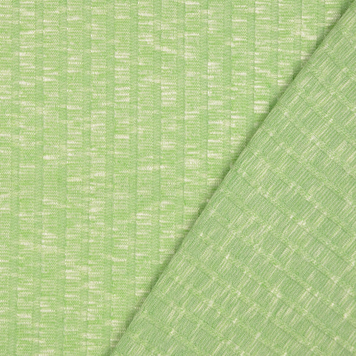 Melange Avocado Wide Rib Knit Fabric