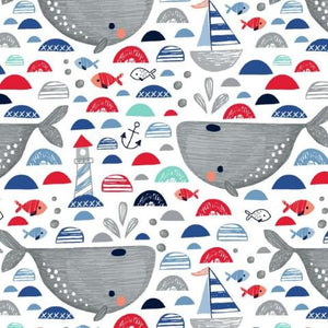 Wonderful Whales Cotton Jersey