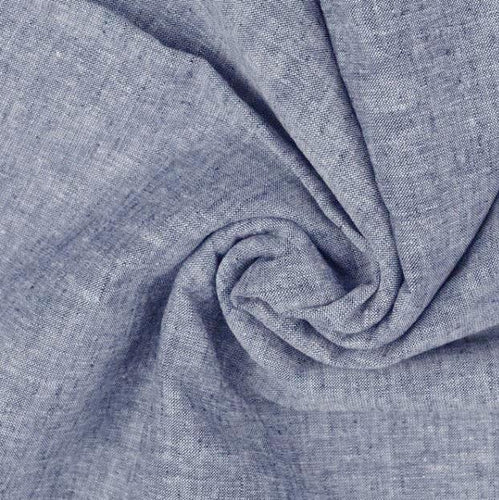 Grey Cotton Linen Mix