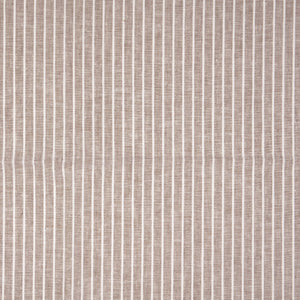 REMNANT 1.36 meters Sepia Linen Cotton Blend Stripes