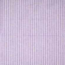 Lilac Linen Cotton Blend Stripes