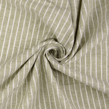 Terre Verte Linen Cotton Blend Stripes