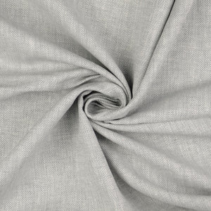 Grey Linen Cotton Twill Stripes