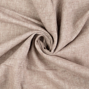 Sepia Linen Cotton Twill Stripes