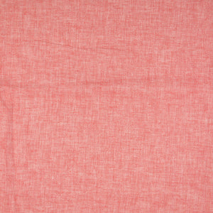 Red Linen Cotton Twill Stripes