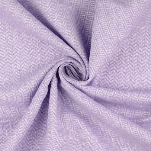 REMNANT 2.34 meters Lilac Linen Cotton Twill Stripes