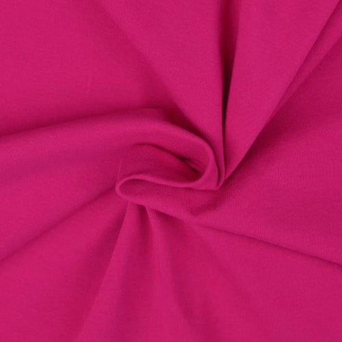 Essential Pink Plain Cotton Spandex Jersey Fabric
