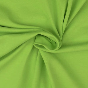 Essential Lime Green Plain Cotton Spandex Jersey Fabric