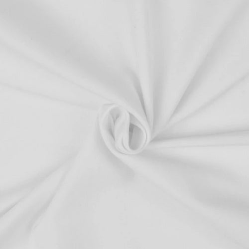 Essential White Plain Cotton Spandex Jersey Fabric