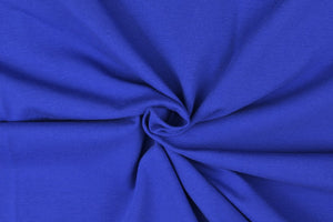 Essential Marine Blue Plain Cotton Spandex Jersey Fabric