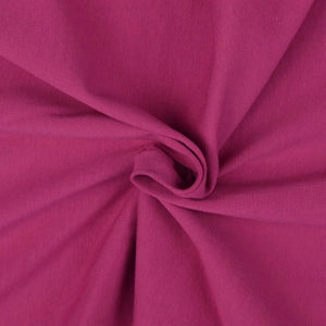 Essential Intense Pink Plain Cotton Spandex Jersey Fabric