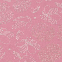 Subtle Flowers - Glitter Cotton Jersey (Pink)