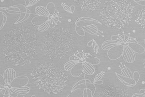 Subtle Flowers - Glitter Cotton Jersey (Grey)