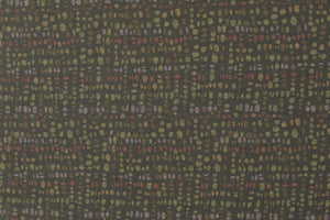 Wine Pebbles Ponte Roma Knit Fabric