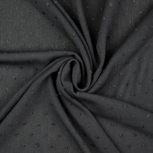 Crinkled Dotty Viscose Black