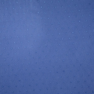 Blue Swiss Dot Crinkled Viscose Fabric