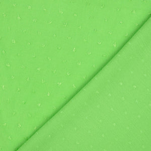 REMNANT 1.45 meters Crinkled Dotty Viscose Lime Green